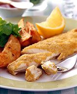 weight watchers fish and chips.  a staple in my house- so quick, easy, healthy