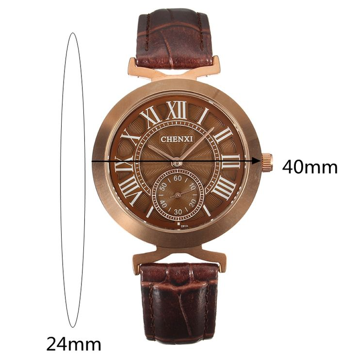 CHENXI Unisex Watch Casual Leather Two Dial Watch online - NewChic