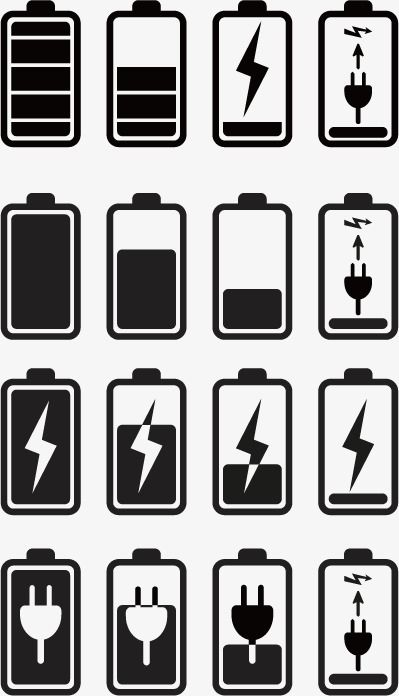 Battery Icon Power Display Battery Charging Png And Vector Phone Icon Battery Icon Icon Set Design