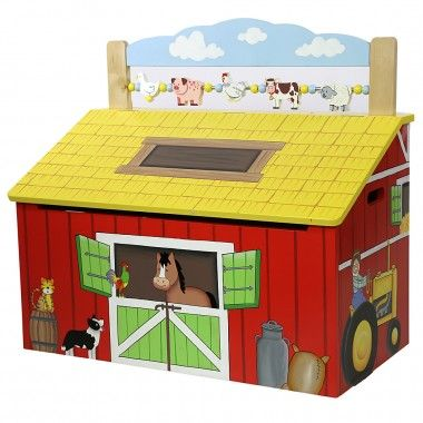 Teamson Happy Farm Childrens Farm Themed Furniture Includes this great wooden toy box it makes  sc 1 st  Pinterest & 13 best toy box ideas images on Pinterest | Wooden toy boxes ... Aboutintivar.Com