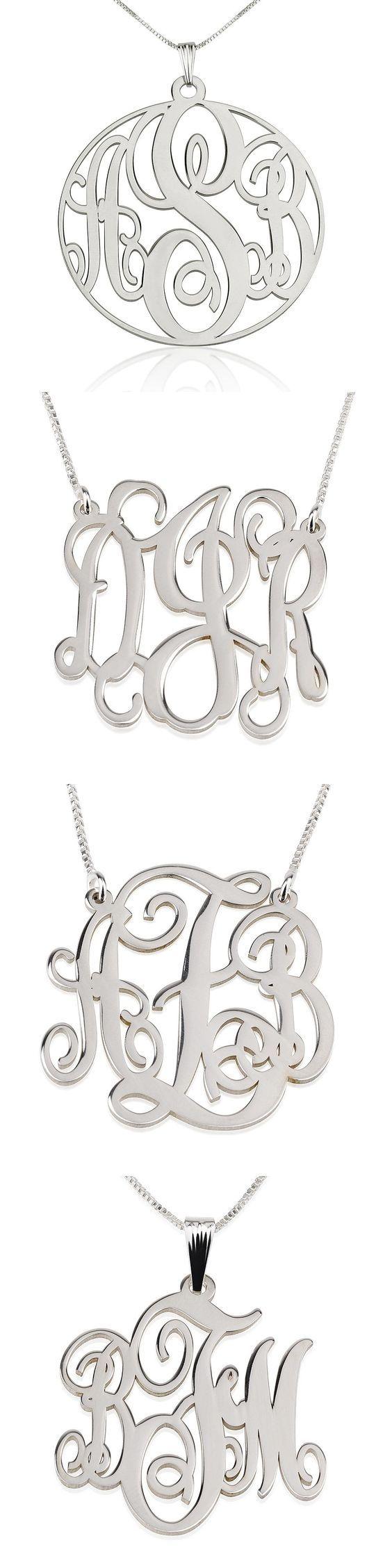 Sterling Silver Monogram Necklaces ✨