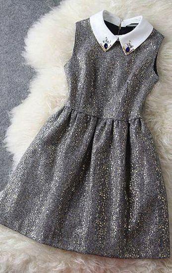 Silver sleeveless dress
