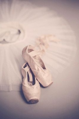 Pink ballet-shoes. Available as poster at printler.com, the marketplace for photo art. Photographer Lena Evertsson.