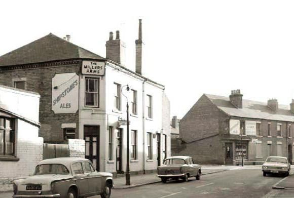 The Millers Arms was a Shipstones tied house situated on Agnes Street. This pub was demolished in the 1970s. Photo 1974