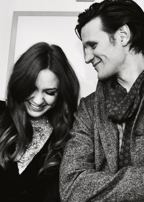 karen Gillan with Matt Smith