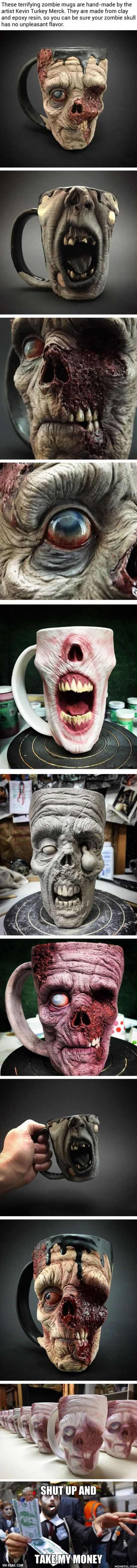 You Can Now Drink Your Morning Coffee From A Zombie Head