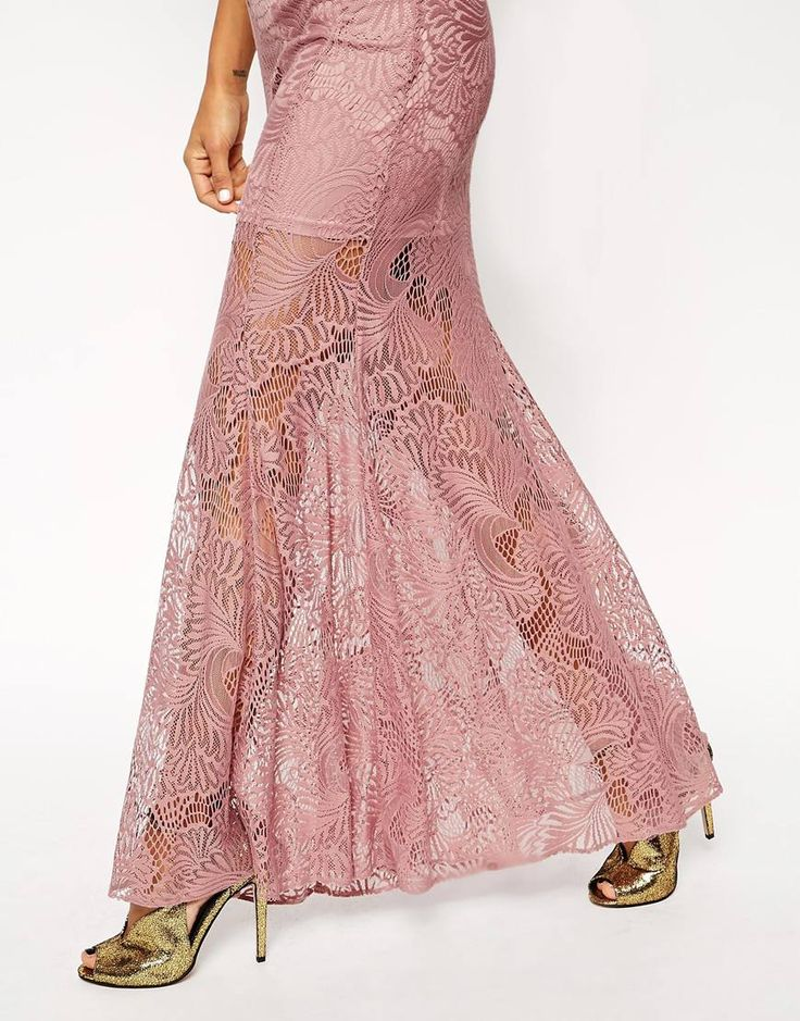 Image 3 ofASOS Lace Fishtail Maxi Dress