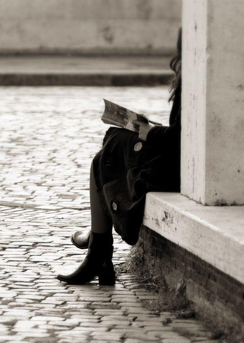 Na rua, na chuva ou na fazenda, o importante é ler.