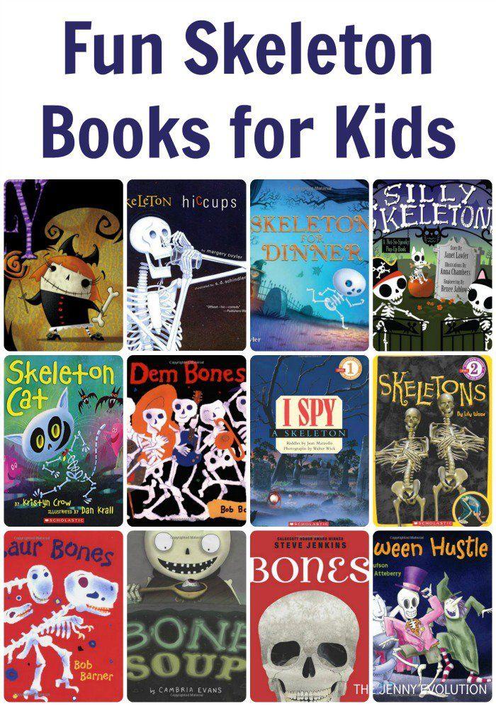 Fun Skeleton Books for Kids | The Jenny Evolution.     #skeleton #bones #Halloween #bone #fall #harvest