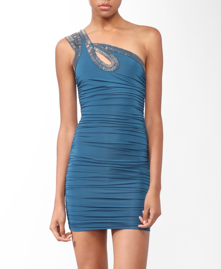 love it!!!!!!: Club Dresses, 2000046425 Sexy, One Shoulder Dresses, Parties Dresses, Colors, Awesome Clothing, Embellishments Dresses, Beautiful Things, Dresses Forever21