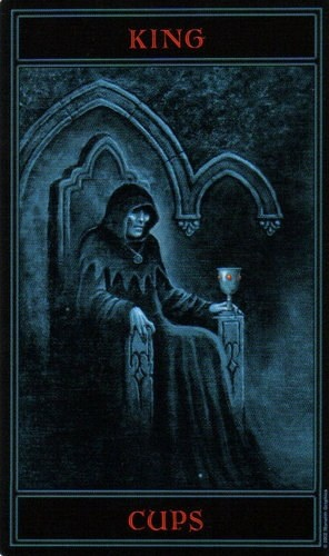 The Gothic Tarot King Of Cups King Of Cups Tarot Le Tarot