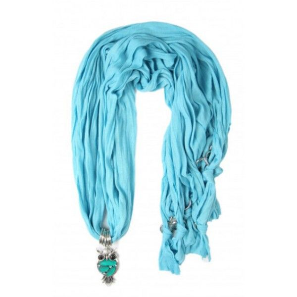 Gifts For Her - Turquoise Owl Scarf