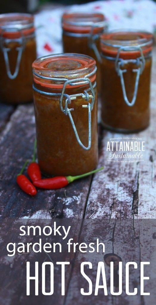 If you like the idea of having the flavor of hot peppers at hand year-round, here's one way to preserve them. This smoky hot pepper sauce is a cinch to make and you'll have that garden fresh flavor right in the fridge when you need it. It's a great replacement for store bought hot sauce!