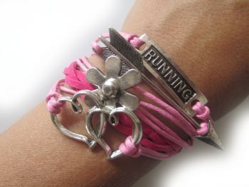 Valentine is around the corner ...and to be cupid is a must! Use this cute and fun running bracelet to show your love to the runner in your life and tell tell how proud you are of them running. $11.99 only at runningonthewall.com