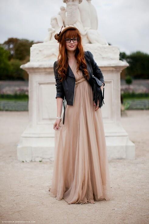 Косуха+платье в пол, контрасты