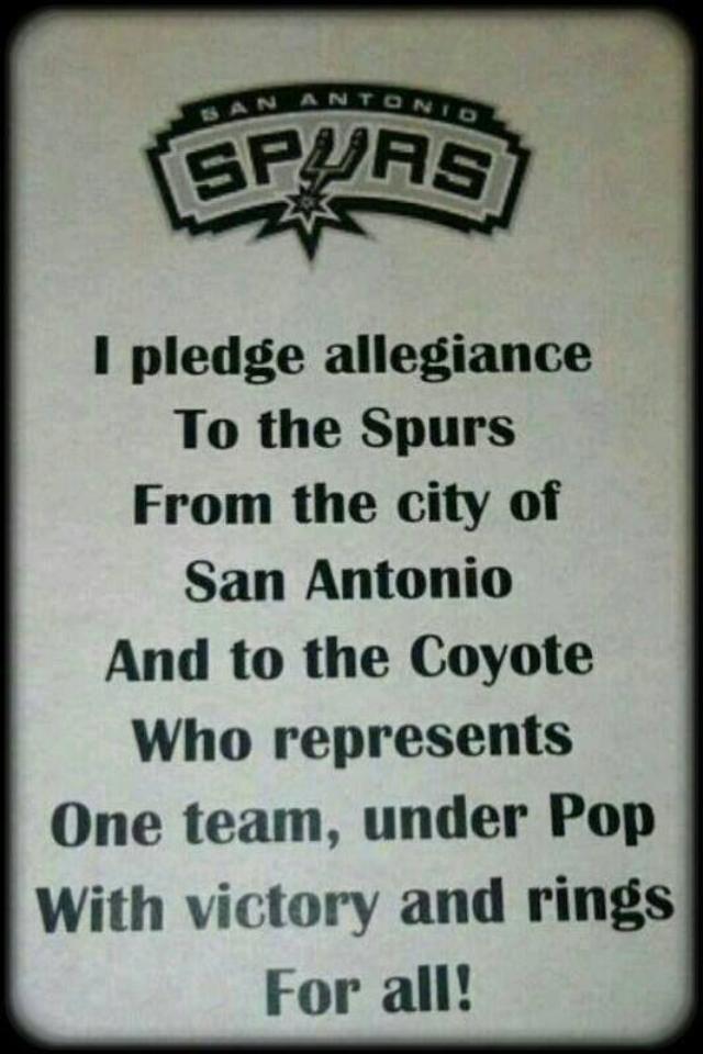 SPURS Pledge  #spurs #sanantoniospurs #gospursgo
