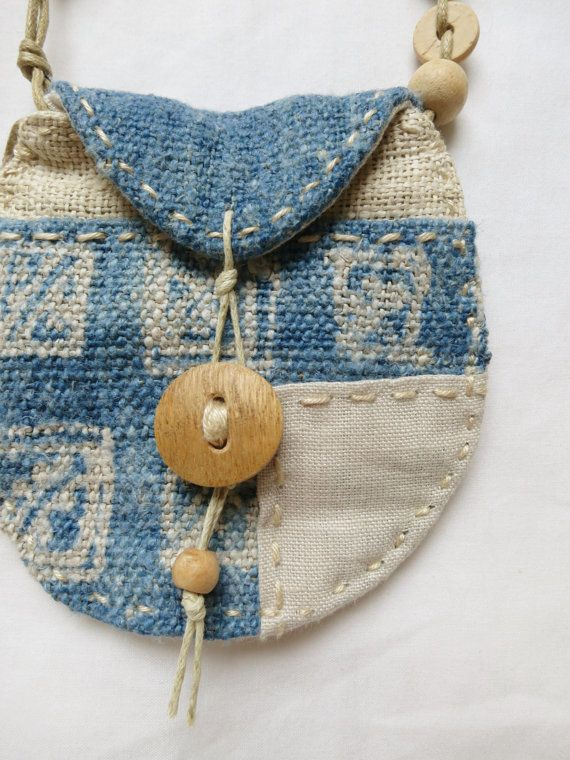 Indigo textile Talisman Pouch by Indinoco on Etsy