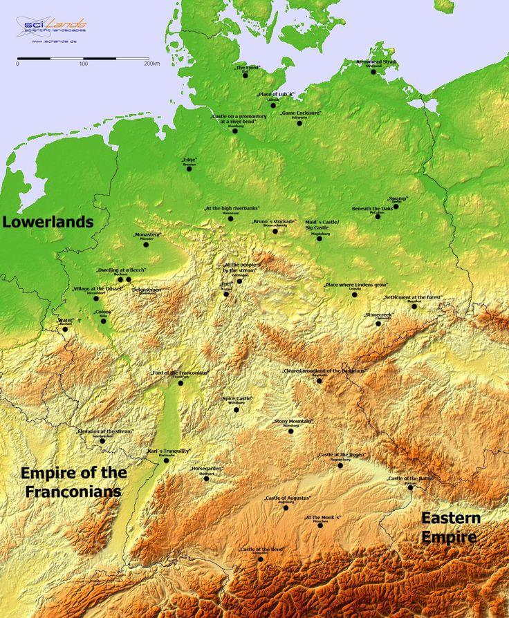 Meaning of German city names.