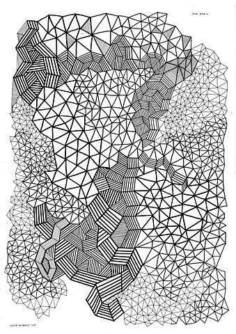kate moross: Patterns Design, Geometric Artworks, Graphics Design, Design Art, Geometric Design, Triangles Patterns, Geometric Patterns Drawings, Random Pin, Line Design