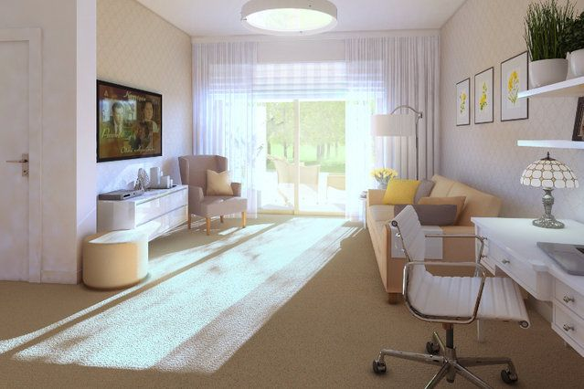 Pokój dzienny w Senior Apartments