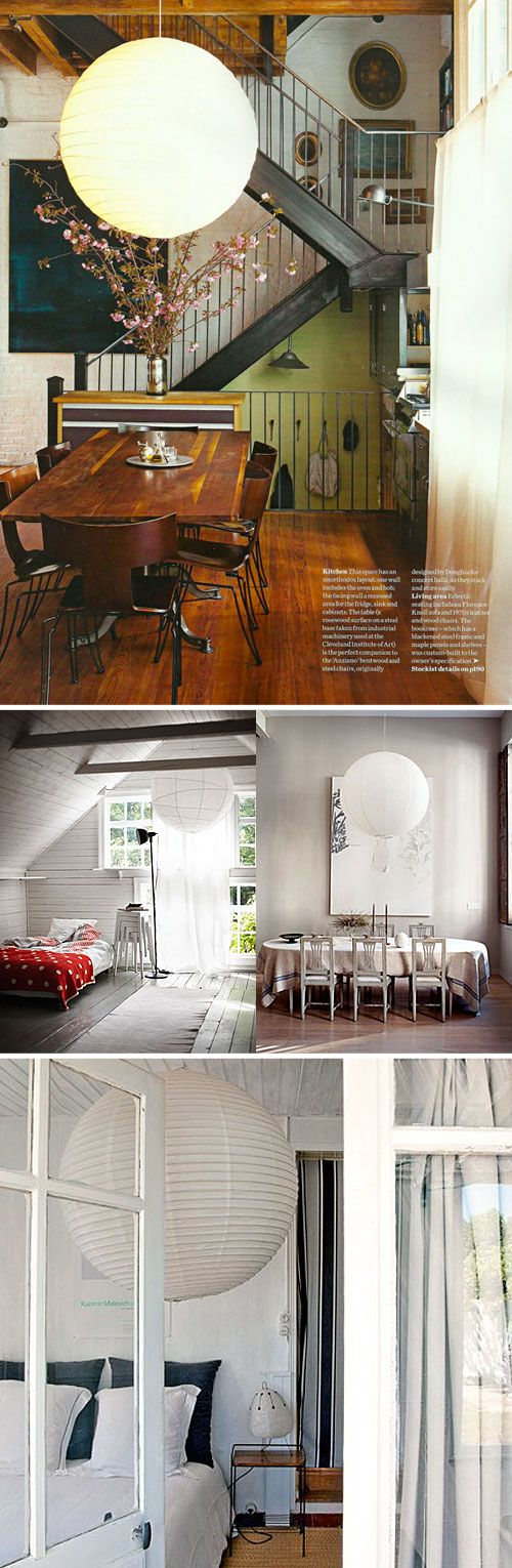 Massive paper lanterns (like having the moon in your living room)
