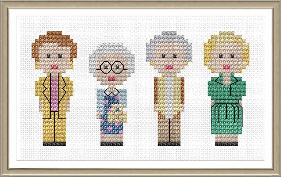 Golden Girls Cross Stitch Pattern PDF Instant by tinymodernist