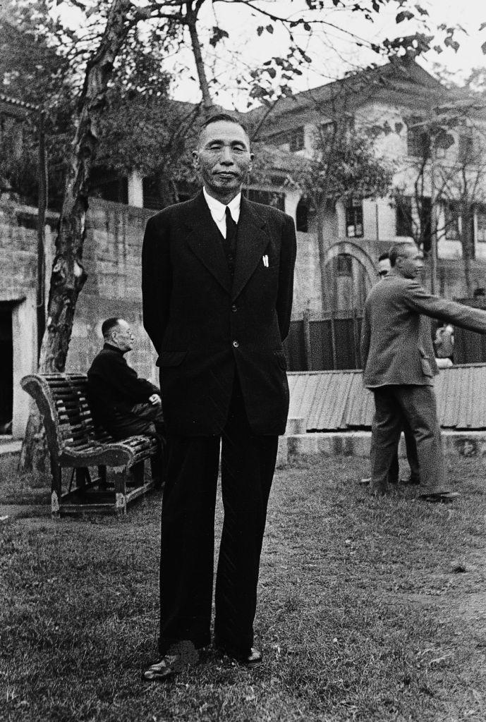 1945, 양복 입은 김구 Korea National Independence activist Kim Koo.