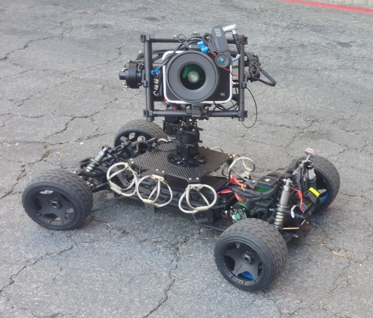 Cine Gear Expo 2014 Update - One-Off RC car with shock stabilized camera platform rigged with a Blackmagic Cinema Camera on a motorized remote turret.  #movingpicture #cinegearexpo