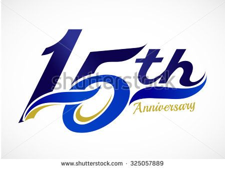15th Years Anniversary Celebration Design
