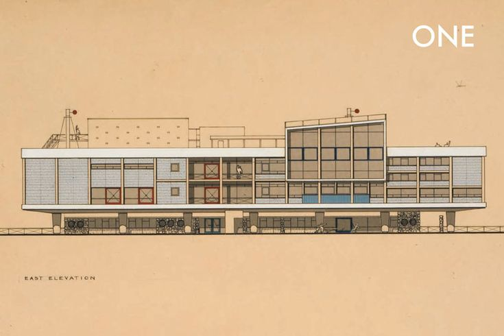 Architectural plan by James Stirling & James Gowan, two pivotal figures in 20th century British architecture (from our book 'Stirling and Gowan')