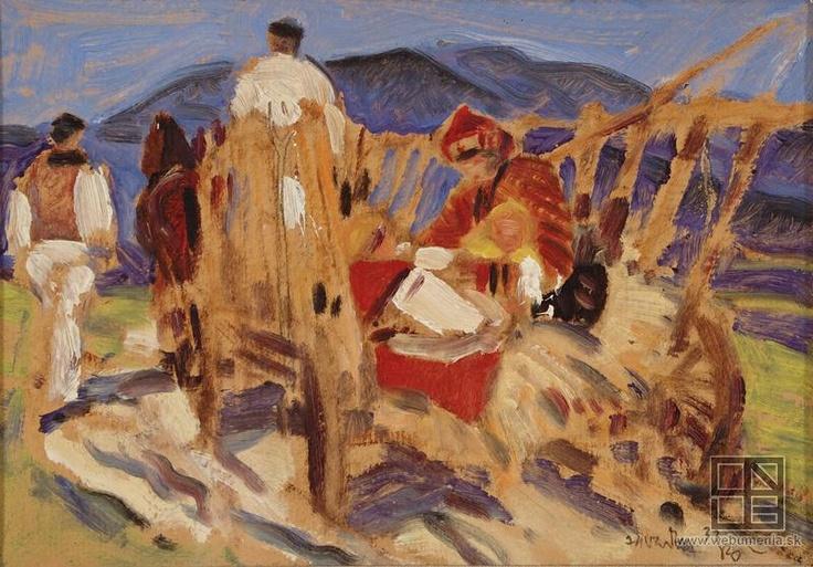 Martin Benka, Za vozom - štúdia zo Závadky 1933