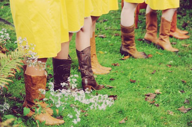 Bridesmaids | cowboy boots | country wedding