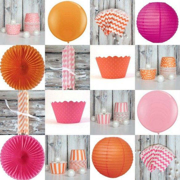 Pink +  Orange Party Ideas perfect for a little girl birthday party or shower!