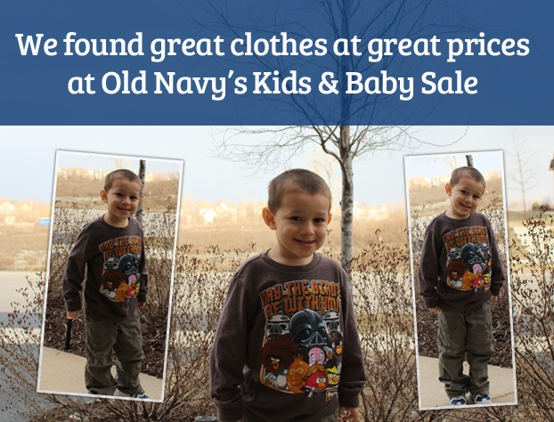 How I found cute and trendy clothes for my kids at Old Navy's Kids and Baby Sale