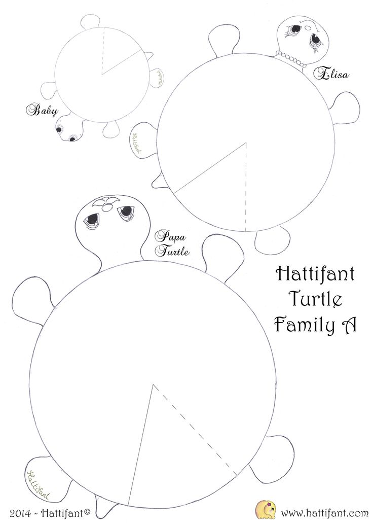 Hattifant`s hungry Turtle Family - Hattifant