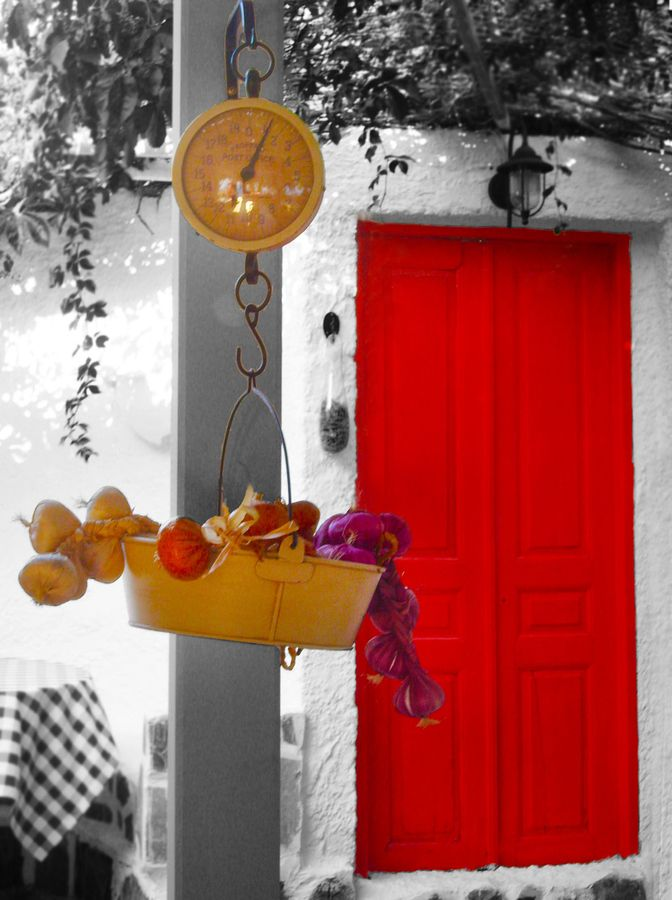 Red door, Astypalaia,Greece