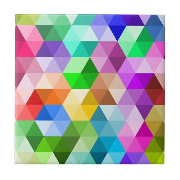 Rainbow Colors Colorful Ceramic Tile