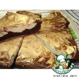 Мраморная творожно-шоколадная запеканка