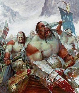 Buffles Ogres, par Games Worskhop, in Warhammer Battle, livre d'armée Royaumes Ogres 6e édition