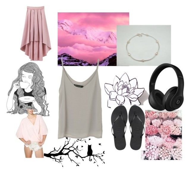 """""""Untitled #79"""" by kcrossman ❤ liked on Polyvore featuring Havaianas, Beats by Dr. Dre, PINTRILL and GE"""