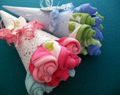 Washcloth bouquet - cute baby shower gift