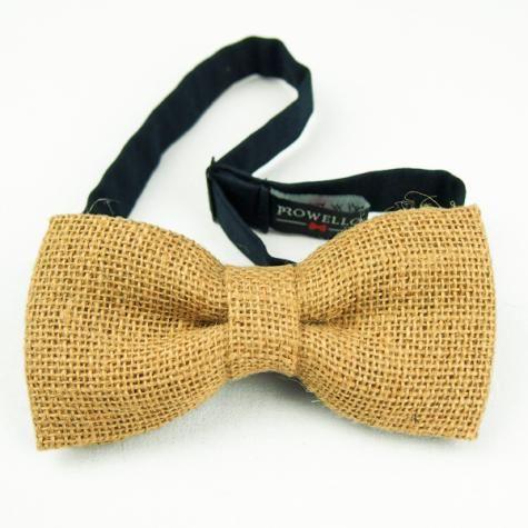 Handmade sackcloth bow | Made by #Prowello | www.metdehand.nl