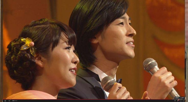 Japanese enka folk duet song both are good singers: 山内惠介 森山愛子 「浪速恋しぐれ」