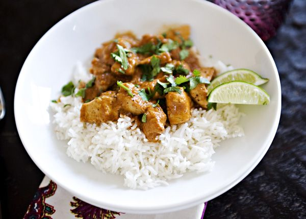 Indian Butter Chicken - I throw everything except cream in the crockpot to cook, then mix in the cream (or plain yogurt) a couple of minutes before I turn off the crockpot.