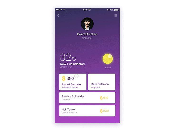 UI Interactions of the week #54 – Muzli -Design Inspiration    최근기록_  center pop