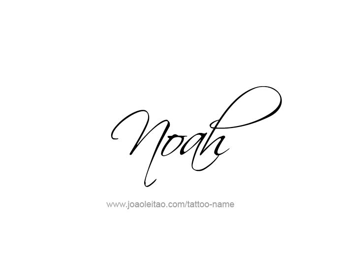Noah Prophet Name Tattoo Designs Page 2 Of 5 Fonts