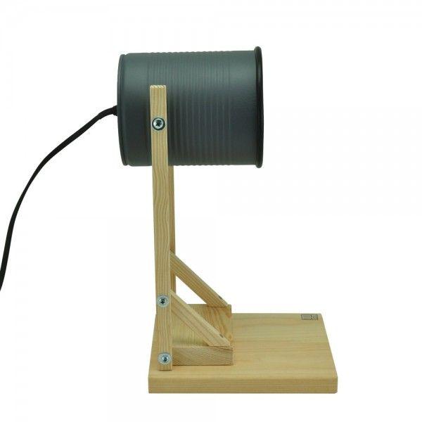 Iliui - Tafellamp van gerecycled blik - grijs