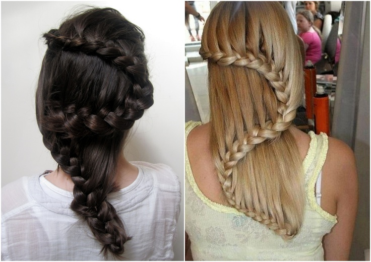 Hairstyle braids steps