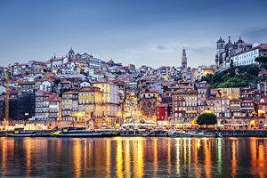 Обои Португалия Дома Реки Побережье Порту Madeira Города