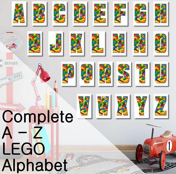 Lego Alphabet Letters A-Z Printable Downloads Stencils